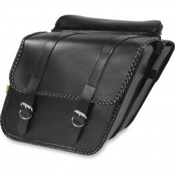 Satteltasche Willie & Max Braided Slant - Black - Compact