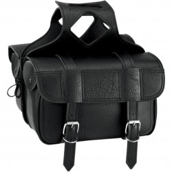 SADDLEBAG / Satteltasche FLAP OVER LARGE PLAIN BLACK