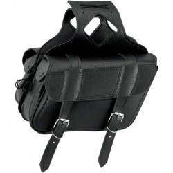 SADDLEBAG/ SATTELTASCHE FLAP OVER LARGE PLAIN BLACK